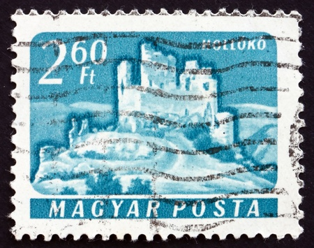 HUNGARY - CIRCA 1961: a stamp printed in the Hungary shows Castle of Holloko, Hungary, circa 1961 Stock Photo - 17950707