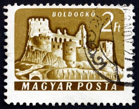 HUNGARY - CIRCA 1961: a stamp printed in the Hungary shows Boldogko Castle, Hungary, circa 1961 Stock Photo - 17950694