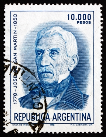 ARGENTINA - CIRCA 1978: a stamp printed in the Argentina shows Jose de San Martin, General, circa 1978 Stock Photo - 17950730