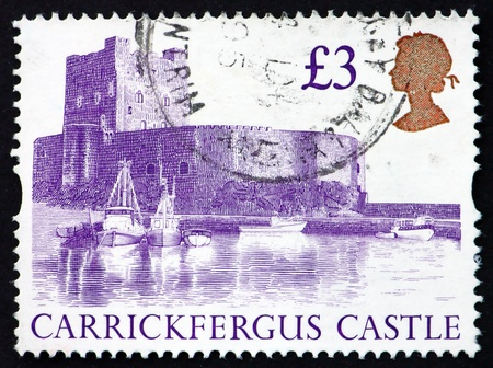 GREAT BRITAIN - CIRCA 1995: a stamp printed in the Great Britain shows Carrickfergus Castle, Ireland, circa 1995