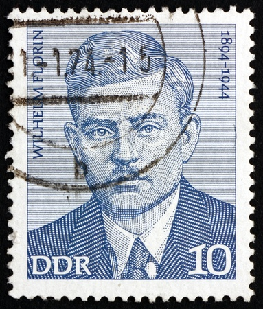 florin: GDR - CIRCA 1974: a stamp printed in the GDR shows Wilhelm Florin, Politician, Leader of German Labor Movement, circa 1974 Editorial