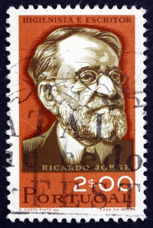 anthropologist: PORTUGAL - CIRCA 1966: a stamp printed in the Portugal shows Ricardo Jorge, Hygienist and Anthropologist, circa 1966