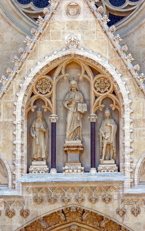 Detail on cathedral over entrance door, Zagreb, Croatia Stock Photo - 18939933