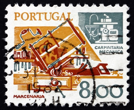 PORTUGAL - CIRCA 1978: a stamp printed in the Portugal shows Carpentry, Old and New, circa 1978