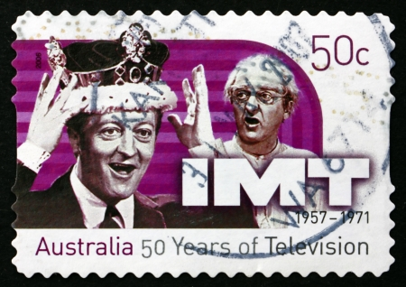 television show: AUSTRALIA - CIRCA 2006: a stamp printed in the Australia shows In Melbourne Tonight, Television Show, 50th Anniversary of Television in Australia, circa 2006