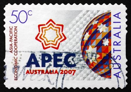 AUSTRALIA - CIRCA 2006: a stamp printed in the Australia shows Asia-Pacific Economic Cooperation Forum, Sydney, circa 2006