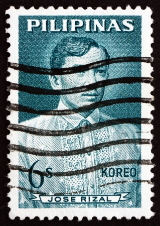 nationalist: PHILIPPINES - CIRCA 1964: a stamp printed in Philippines shows Jose Rizal, Portrait, National Hero, Nationalist and Reformist, circa 1964