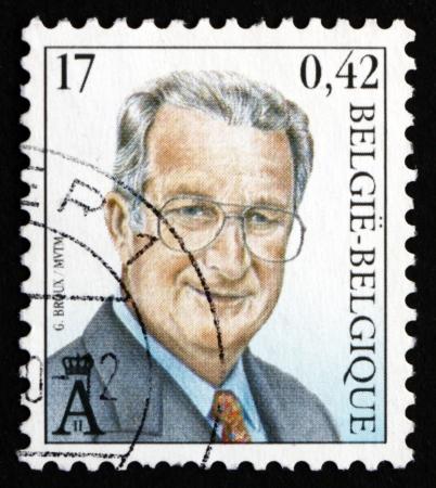 BELGIUM - CIRCA 2000: a stamp printed in the Belgium shows King Albert II of Belgium, circa 2000