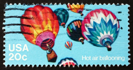 UNITED STATES OF AMERICA - CIRCA 1983: a stamp printed in the USA shows Balloons, Flying Machines, circa 1983