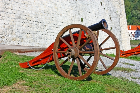 Old cannon on the eternal watch photo