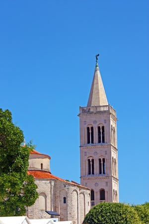 Church of St. Donat and tower of cathedral of St. Anastasia in Zadar, Croatia from 9th century Stock Photo - 20416946