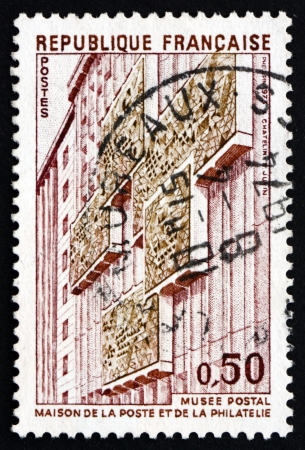 philately: FRANCE - CIRCA 1973: a stamp printed in the France shows Postal Museum, Opening of new Post and Philately Museum, Paris, circa 1973