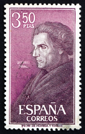 SPAIN - CIRCA 1967: a stamp printed in the Spain shows Jose de Acosta, Jesuit Missionary and Naturalist, circa 1967