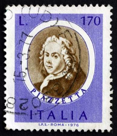 genre: ITALY - CIRCA 1971: a stamp printed in the Italy shows Giovanni Piazzetta, Rococo Painter of Religious Subjects and Genre Scenes, circa 1971