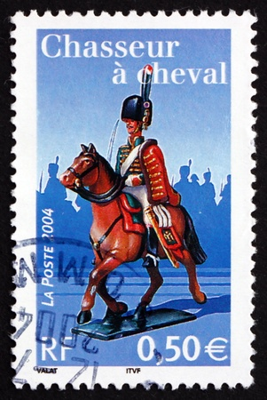 napoleon i: FRANCE - CIRCA 2004: a stamp printed in the France shows Light Cavalry, Napoleon I and the Imperial Guard, circa 2004
