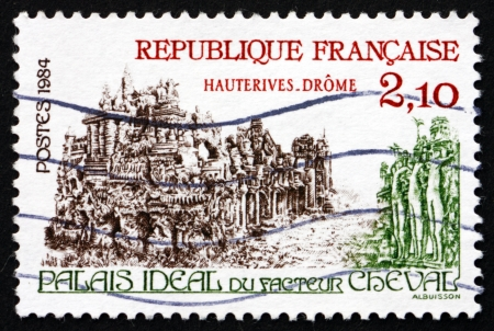 ferdinand: FRANCE - CIRCA 1984: a stamp printed in the France shows Palais Ideal, Hauterives-Drome, by Ferdinand Cheval, circa 1984 Editorial