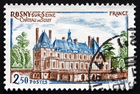 sully: FRANCE - CIRCA 1981: a stamp printed in the France shows Sully Chateau, Rosny-sur-Seine, circa 1981