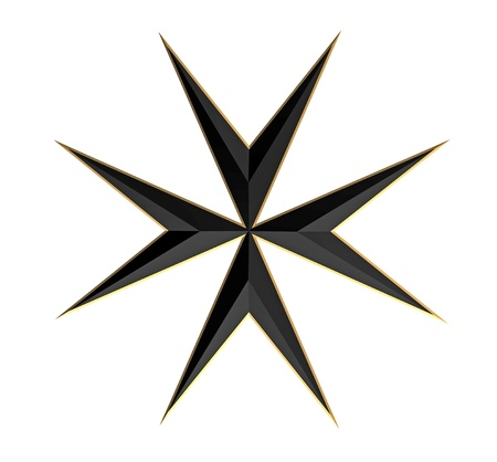 maltese: Maltese Cross Isolated on White, 3D Render