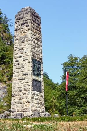 anthem: Monument to Croatian national anthem in Zelenjak, Hrvatsko Zagorje, Croatia Stock Photo
