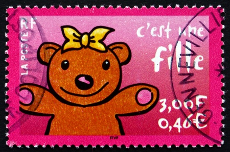 FRANCE - CIRCA 2001: a stamp printed in the France shows Its a Girl, Announcement, circa 2001