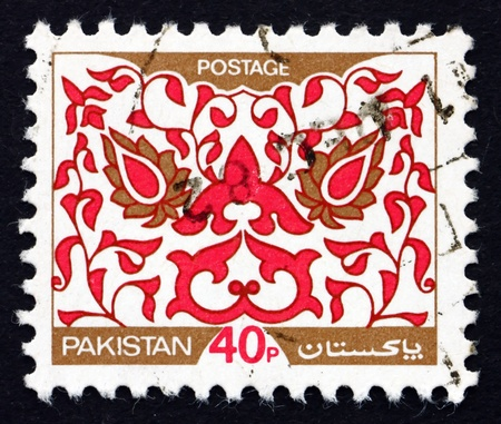 PAKISTAN - CIRCA 1980: a stamp printed in Pakistan shows Traditional Ornament, circa 1980 Stock Photo - 21754139