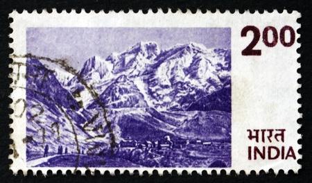 INDIA - CIRCA 1975: a stamp printed in India shows Himalayas, Mountain Range in Asia, circa 1975