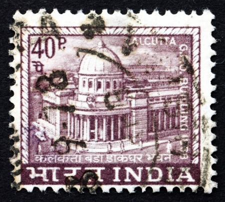indian postal stamp: INDIA - CIRCA 1968: a stamp printed in India shows General Post Office, Calcutta, circa 1968