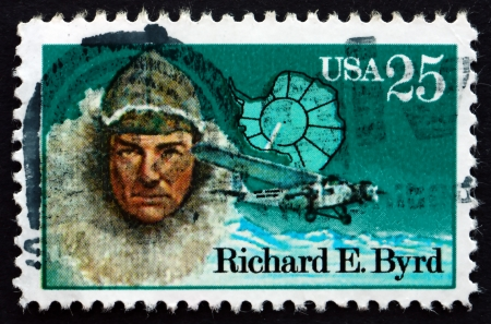 UNITED STATES OF AMERICA - CIRCA 1988: a stamp printed in the USA shows Richard Evelyn Byrd, Antarctic Explorer, circa 1988