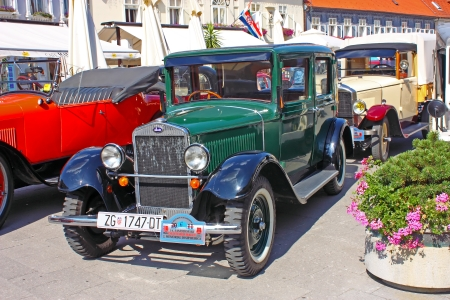 clement: SAMOBOR, CROATIA � July 17: Luxury Car Laurin and Clement, Skoda 120, 14. Oldtimer Rally in Samobor, July 17, 2011, in Samobor, Croatia Editorial
