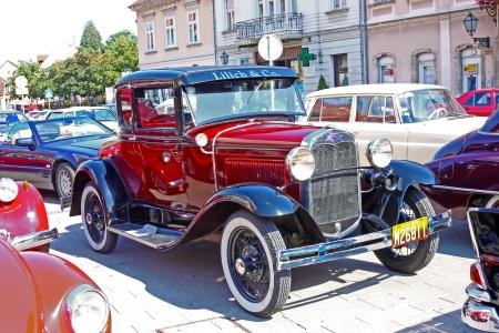 deluxe: SAMOBOR, CROATIA � July 17: Ford Model A Deluxe Tudor, 14. Oldtimer Rally in Samobor, July 17, 2011, in Samobor, Croatia