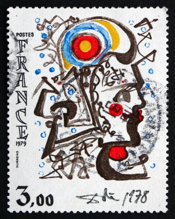 marianne: FRANCE - CIRCA 1979: a stamp printed in the France shows Head of Marianne, Painting by Salvador Dali, circa 1979