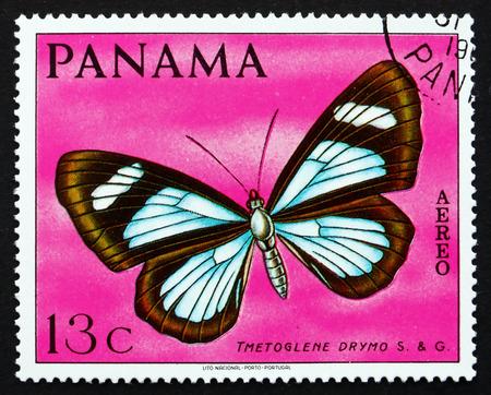 PANAMA - CIRCA 1968: a stamp printed in the Panama shows Tmetoglene Drymo, Butterfly, circa 1968
