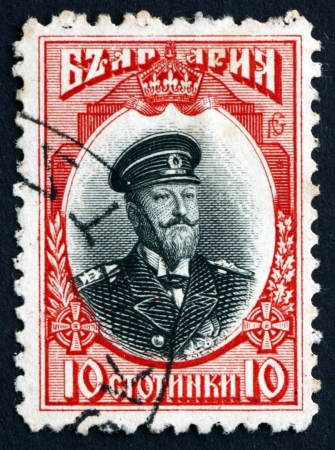 regnant: BULGARIA - CIRCA 1911: a stamp printed in the Bulgaria shows Ferdinand I, Tsar of Bulgaria, circa 1911