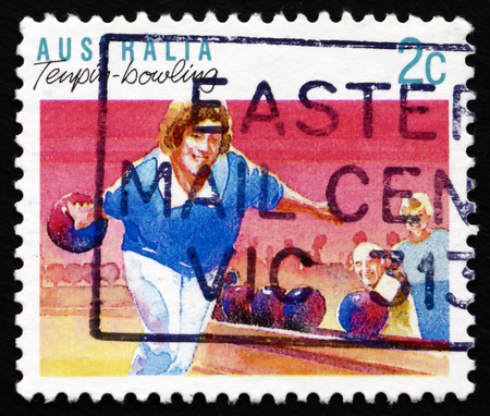 AUSTRALIA - CIRCA 1991: a stamp printed in the Australia shows Bowling, Sport and Recreation, circa 1991