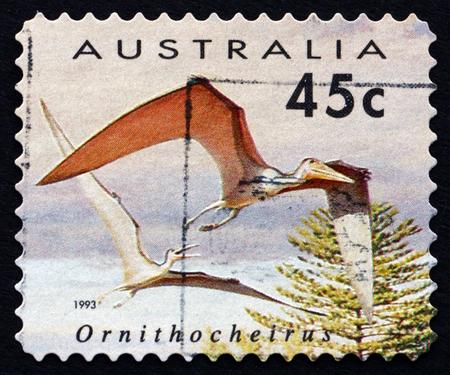 AUSTRALIA - CIRCA 1993: a stamp printed in the Australia shows Ornithocheirus, Pterosaur, Flying Dinosaur, circa 1993