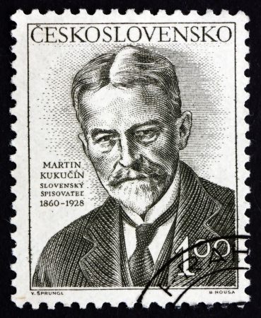 prose: CZECHOSLOVAKIA - CIRCA 1953: a stamp printed in the Czechoslovakia shows Martin Kukucin, Slovak Prose Writer, Dramatist and Publicist, circa 1953 Editorial