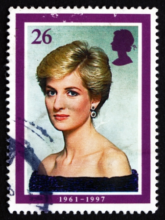 GREAT BRITAIN - CIRCA 1998: a stamp printed in the Great Britain shows Princess Diana, Portrait, circa 1998