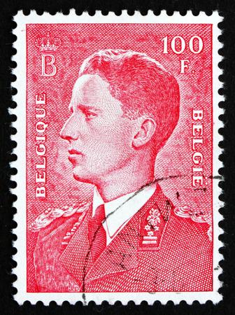 baudouin: BELGIUM - CIRCA 1958: a stamp printed in the Belgium shows King Baudouin, Belgian king, circa 1958 Editorial
