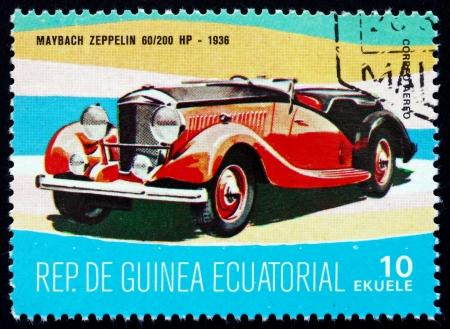 equatorial guinea: EQUATORIAL GUINEA - CIRCA 1972: a stamp printed in Equatorial Guinea shows Maybach Zeppelin, 1936, circa 1972 Editorial