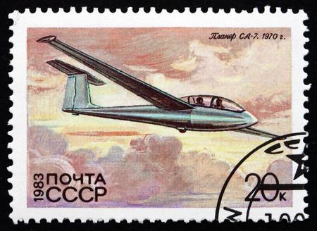 RUSSIA - CIRCA 1983: a stamp printed in the Russia shows SA-7, Glider, circa 1983