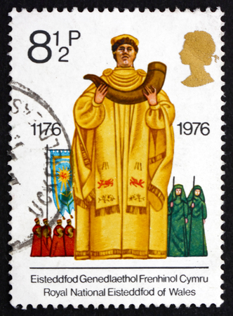 GREAT BRITAIN - CIRCA 1976: a stamp printed in the Great Britain shows Archdruid, Eisteddfod, British Cultural Tradition, circa 1976 Stock Photo - 25218731