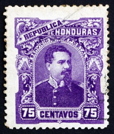 HONDURAS - CIRCA 1891: a stamp printed in Honduras shows President Luis Bogran, circa 1891