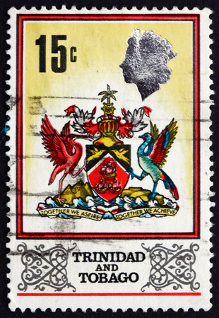 TRINIDAD AND TOBAGO - CIRCA 1969: a stamp printed in Trinidad and Tobago shows Coat of Arms, circa 1969