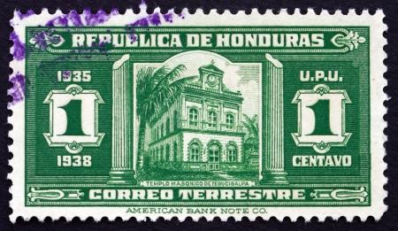 masonic: HONDURAS - CIRCA 1935: a stamp printed in Honduras shows Masonic Temple, Tegucigalpa, circa 1935