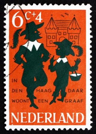 rhyme: NETHERLANDS - CIRCA 1963: a stamp printed in the Netherlands shows In the Hague there Lives a Count, Nursery Rhyme, circa 1963