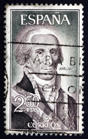 the statesman: SPAIN - CIRCA 1965: a stamp printed in the Spain shows Gaspar Melchor de Jovellanos, Statesman, Author, Philosopher, circa 1965