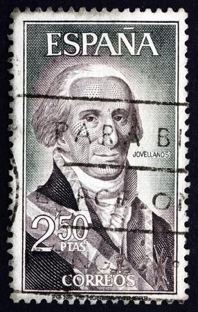 melchor: SPAIN - CIRCA 1965: a stamp printed in the Spain shows Gaspar Melchor de Jovellanos, Statesman, Author, Philosopher, circa 1965
