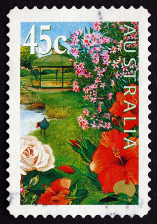 AUSTRALIA - CIRCA 2000: a stamp printed in the Australia shows Garden Flowers, circa 2000