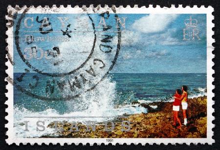 cayman islands: CAYMAN ISLANDS - CIRCA 1991: a stamp printed in Cayman Islands shows Blowholes, Island Scene, circa 1991