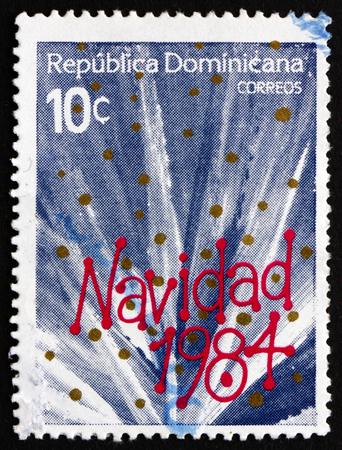 DOMINICAN REPUBLIC - CIRCA 1984: a stamp printed in Dominican Republic shows Christmas, circa 1984